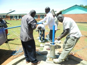 The Water Project : kenya4221-27-tulon-secondary-school-pump-installation