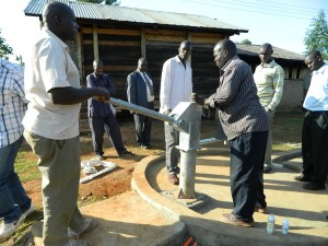 The Water Project : kenya4221-30-tulon-secondary-school-pump-installation