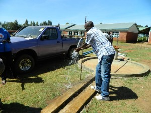 The Water Project : kenya4221-33-tulon-secondary-school-test-pumping