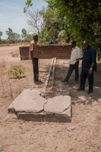 The Water Project : burkinafaso9055-03-damaged-drain-and-sump