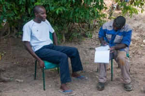The Water Project : burkinafaso9055-07-interviewing-mr-adama