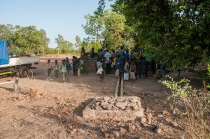 The Water Project : burkinafaso9055-10-drain-and-sump-cleaned-and-repaired-by-community