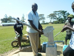 The Water Project : kenya4213-22-inaya-primary-school-pump-installation-5