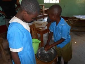 The Water Project : kenya4222-27-lower-primary-pupils-demonstrating-handwashing