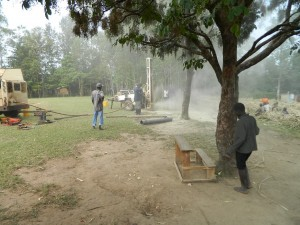 The Water Project : kenya4222-38-drilling-at-emaungu-primary-school