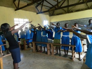 The Water Project : kenya4245-24-trainees-singing-a-song-during-the-training-2