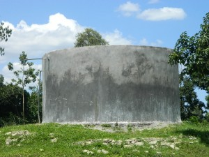 The Water Project : kenya4256-07-a-water-tank-that-belongs-to-the-neighbouring-school