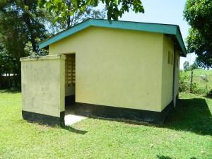 The Water Project : kenya4256-12-chebwayi-dispensary-latrines
