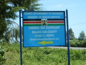The Water Project : kenya4256-15-chebwayi-sign-post
