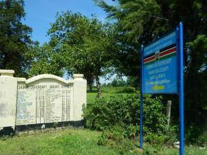 The Water Project : kenya4256-16-chebwayi-sign-post