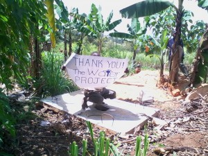 The Water Project : kenya4285-01-a-boy-appreciating-the-slab-provided