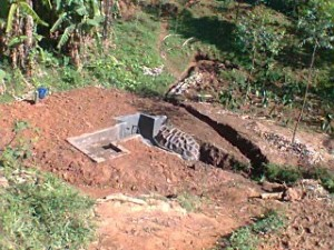 The Water Project : kenya4285-05-bweseletse-spring-after-backfilling-construction