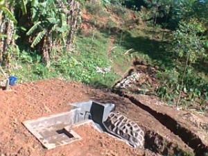 The Water Project : kenya4285-06-bweseletse-spring-under-construction
