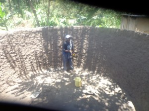 The Water Project : kenya4287-02-lurambi-pri-tank-during-construction
