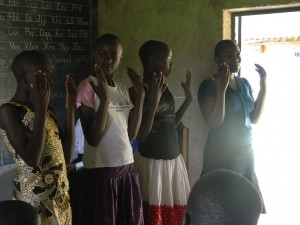 The Water Project : kenya4277-09-pupils-of-ihonje-primary-school-checking-on-their-finger-nails