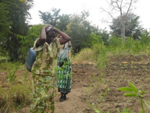The Water Project : kenya4297-14-members-carry-water-home-on-their-backs