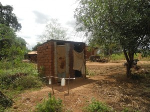 The Water Project : kenya4299-12-first-members-latrine-and-tippy-tap