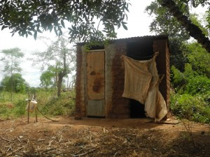The Water Project : kenya4299-13-first-members-latrine-and-tippy-tap