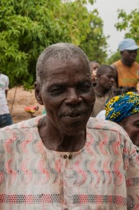 Holire, Village Chief, discussing her newly donated water project in Burkina Faso