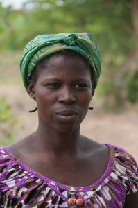 Kam - Community Member, discussing her newly donated water project in Burkina Faso