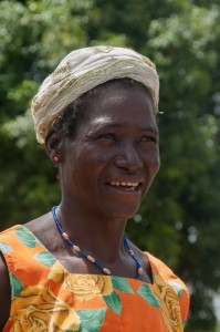 Doli F -  Farmer and Housewife, discussing her newly donated water project in Burkina Faso