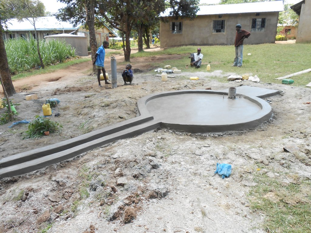 The Water Project : kenya4222-62-constructed-pad-of-emaungu-primary-school