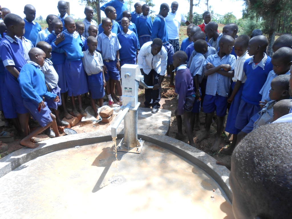 The Water Project : kenya4224-105-pump-installation-surungai-primary-school-1