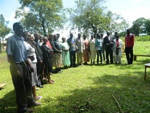 The Water Project : kenya4256-26-chebwayi-community-members-who-were-present-for-the-training