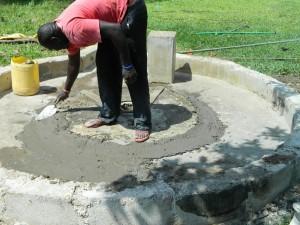The Water Project : kenya4256-39-pad-repair-at-chebwayi-community