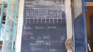 The Water Project : kenya4290-02-bulanda-primary-school-notice-board