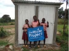 The Water Project : kenya4290-20-bulanda-ps-girls-in-front-of-new-latrine