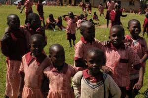 The Water Project : kenya4292-17-students-enjoying-break-on-school-grounds