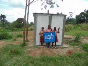 The Water Project : kenya4292-23-pupils-in-front-of-newly-constructed-latines-for-girls