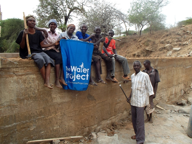 The Water Project : kenya4306-57-dam-complete
