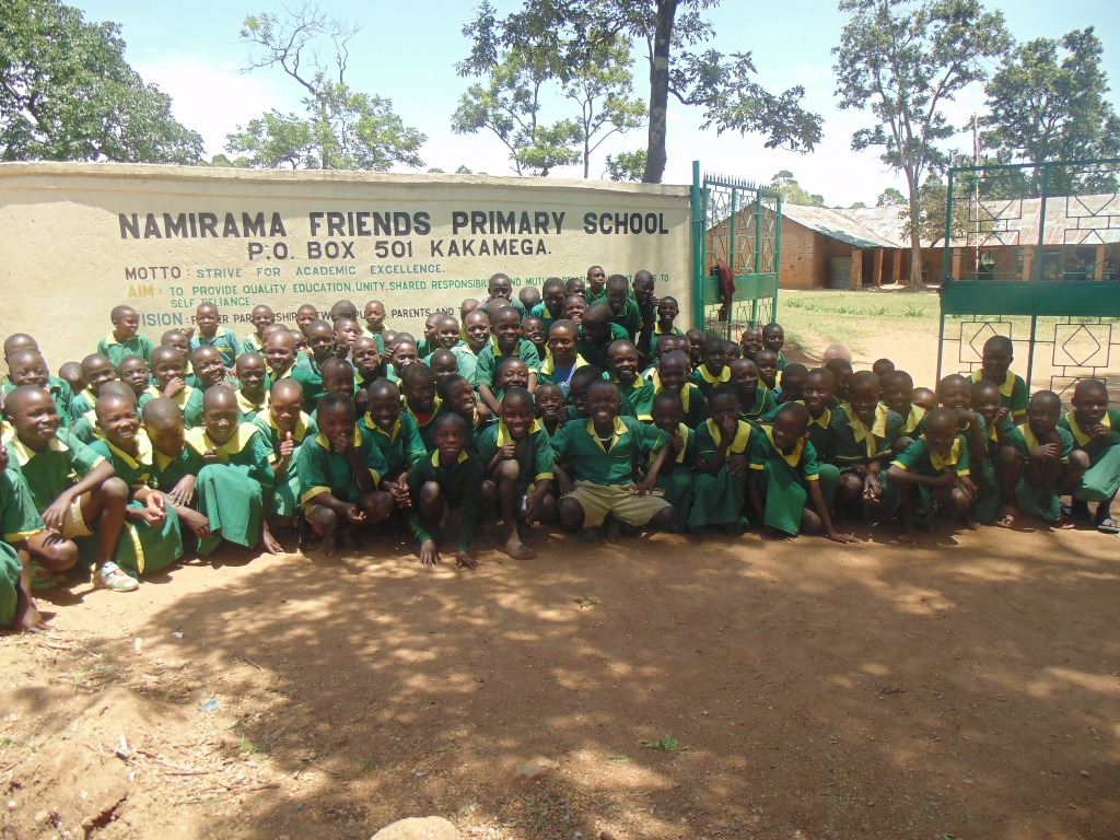 The Water Project : kenya4262-07-namirama-pupils-at-the-gate
