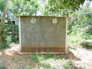 The Water Project : kenya4278-13-st-branabas-elubari-ack-church-toilet