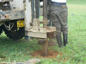 The Water Project : kenya4278-25-drilling-begins-at-elubari-ack-church