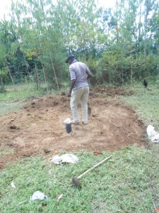 The Water Project : kenya4278-43-clearing-for-pad-construction-at-elubari-ack-church