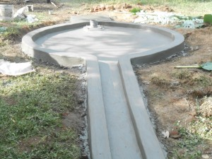 The Water Project : kenya4278-49-pad-costruction-completed-and-left-to-cure-at-elubari