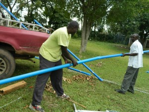 The Water Project : kenya4278-53-03-joining-the-pipes