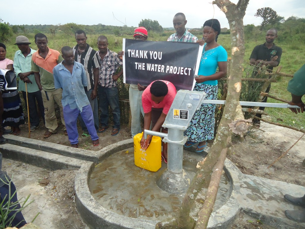 The Water Project : uganda6053-20-person-using-water