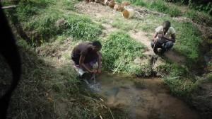 The Water Project : kenya4289-02-lihanda-spring-before-protection