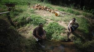 The Water Project : kenya4289-03-lihanda-spring-before-protection