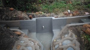 The Water Project : kenya4289-11-lihanda-spring-almost-complete