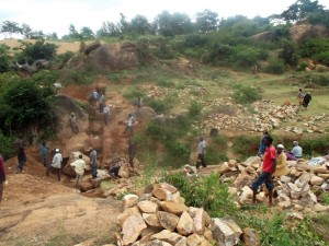 The Water Project : kenya4299-01-trenching-in-kee