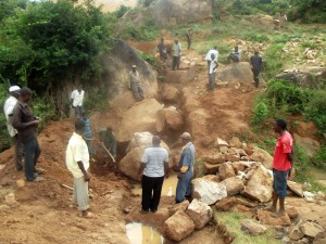 The Water Project : kenya4299-06-trenching-in-kee