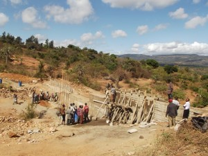 The Water Project : kenya4299-09-construction-progress-in-kee