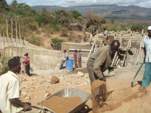 The Water Project : kenya4299-10-construction-progress-in-kee