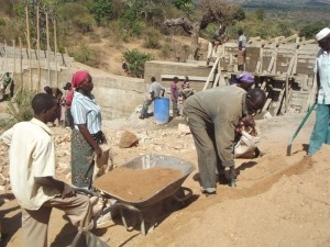 The Water Project : kenya4299-11-construction-progress-in-kee