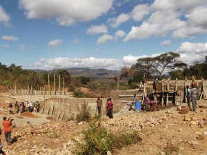 The Water Project : kenya4299-12-construction-progress-in-kee